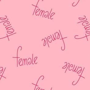 The future is female girls typography love text print in hot red and pink