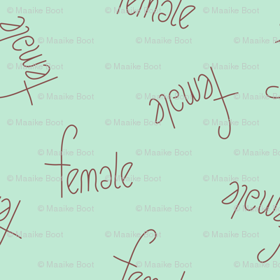 The future is female girls typography love text print in mint