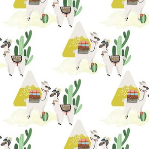 Southwest Alpaca and Cacti