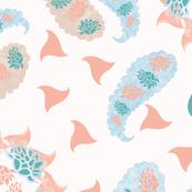 Modern Paisley Pink/Coral