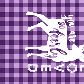 MINKY fat quarter - purple plaid - you are so deerly loved