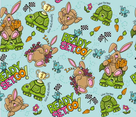 Ready_ Set_ Go!-01 fabric by designs_by_mardell on Spoonflower - custom fabric