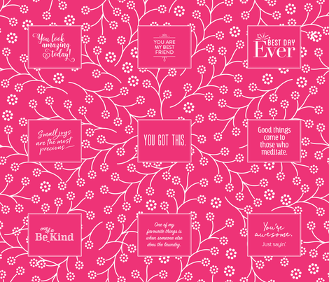 Dryer Sheets Project – Pink fabric by lucielou on Spoonflower - custom fabric