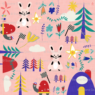 Tortoise and the hare pink