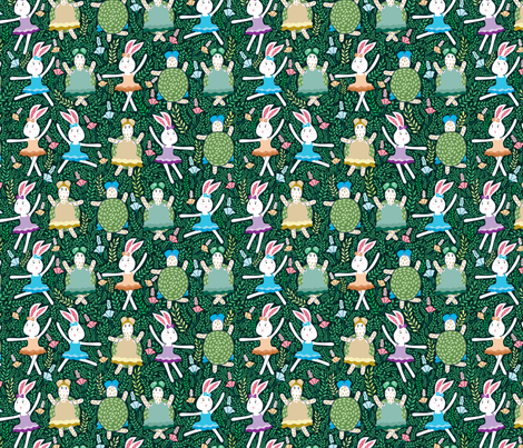 dance with friend fabric by y_me_it's_me on Spoonflower - custom fabric