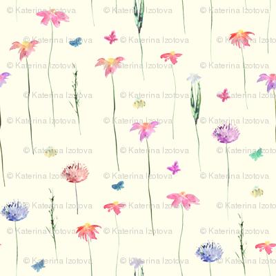 Tender meadow || watercolor