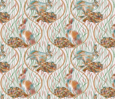 The Hare and Tortoise - Challenge fabric by house_of_heasman on Spoonflower - custom fabric