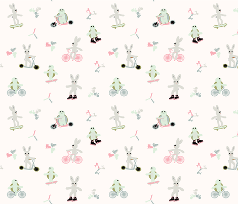 Tortoise Hare 9x9_Tortoise and Hare fabric by ramengirl on Spoonflower - custom fabric