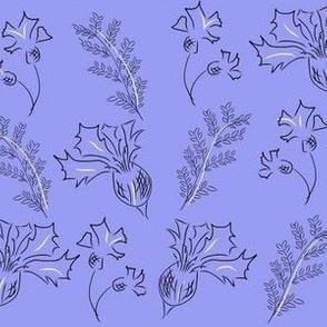 Violet cornflowers