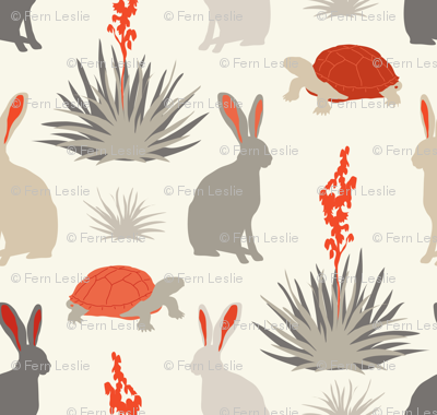 Tortoise & Hare - Red, Ivory