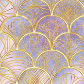 Art Deco Clamshells