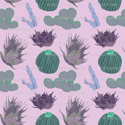 Cacti & Succulents Purple Small