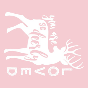 """MINKY layout - You are so deerly loved - 54""""  pink"""