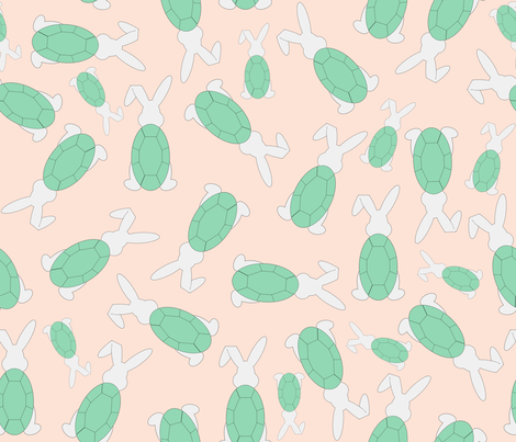 Tortoise and Hare fabric by themadcraftduckie on Spoonflower - custom fabric