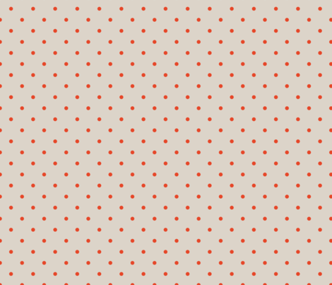 Dots - Small - Neutral, Red fabric by fernlesliestudio on Spoonflower - custom fabric
