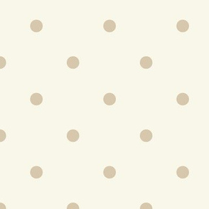 Dot - Small - Tan, Ivory