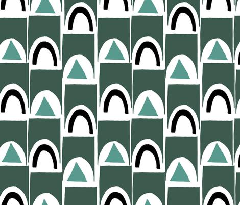 Geo Mid Century fabric by statement_goods on Spoonflower - custom fabric