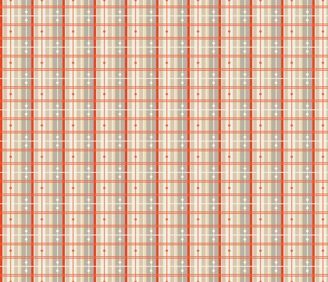 Plaid - Red, Light fabric by fernlesliestudio on Spoonflower - custom fabric