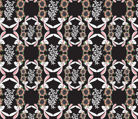 Tortoise and Hare challenge fabric by margiecampbellsamuels on Spoonflower - custom fabric