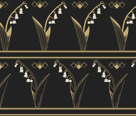 Lily of the Valley fabric by meredith_watson on Spoonflower - custom fabric