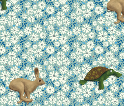 Hare's recurring nightmare fabric by cecca on Spoonflower - custom fabric
