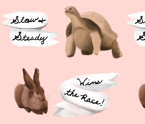 Slow and Steady Wins the Race! fabric by featherfox on Spoonflower - custom fabric