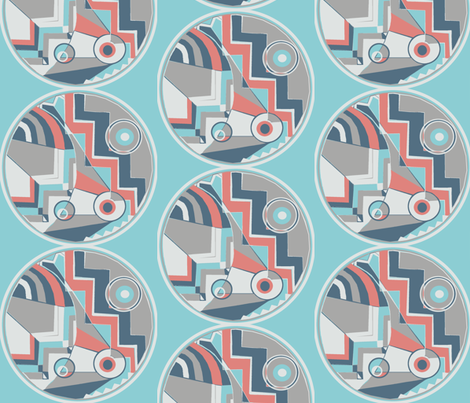 art deco new, large scale fabric by amy_g on Spoonflower - custom fabric