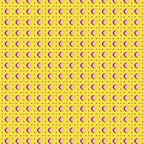 Cane You Dig It?* (Diamond Dust) || chair caning weave weaving geometric hexagon 70s retro wicker garden chair yellow purple