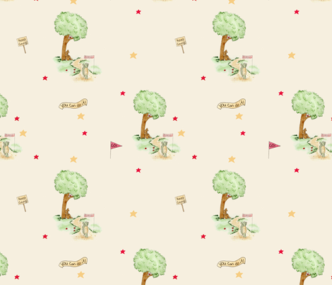 The Tortoise and The Hare  fabric by dreamoutloudart on Spoonflower - custom fabric