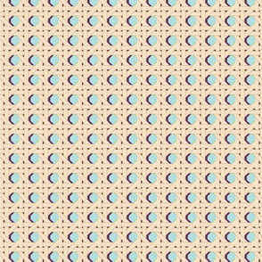 Cane You Dig It?* (Polymer) || chair caning weave weaving geometric hexagon 70s retro wicker garden chair cream turquoise purple