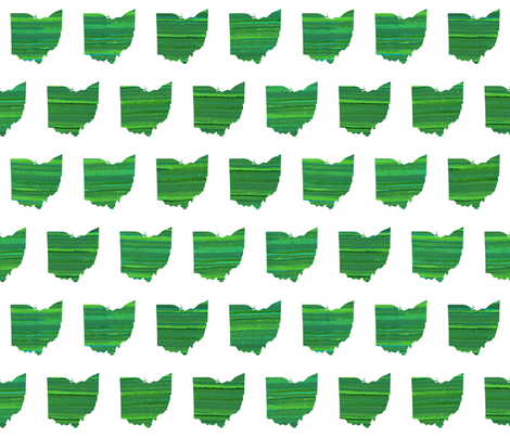Ohio Green fabric by bags29 on Spoonflower - custom fabric