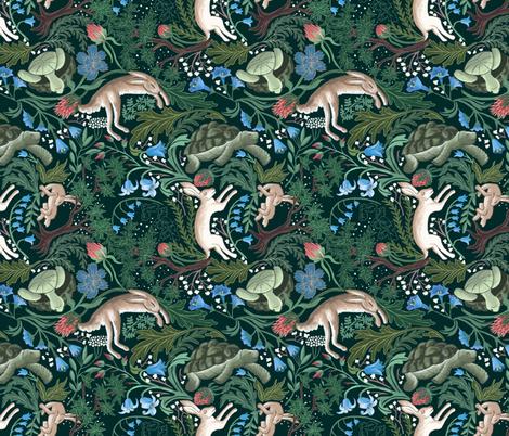 La Lievre et La Tortue fabric by ay_laurita on Spoonflower - custom fabric
