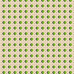 Cane You Dig It?* (Grass) || chair caning weave weaving geometric hexagon 70s retro wicker garden chair cream Kelly green