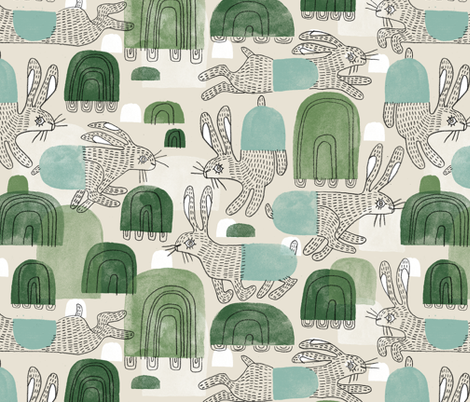 Tortoise Hills fabric by mariaspeyer on Spoonflower - custom fabric