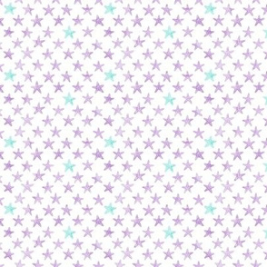 (micro scale) starfish purple - mermaid coordinate