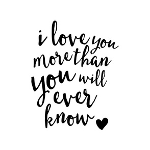 2 yard crib sheet layout - I love you more than you will ever know