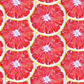 Painted Ruby Red Grapefruit Slices