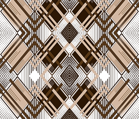 Sepia Harlequin Illusion fabric by xoxotique on Spoonflower - custom fabric