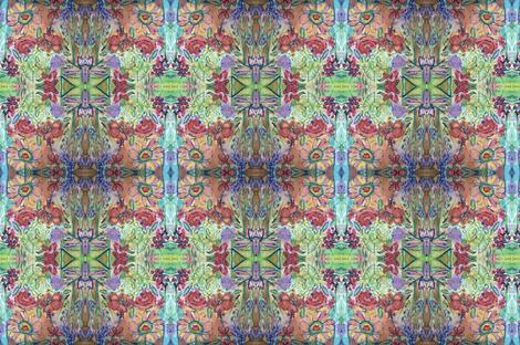 Flowers Inspire Love  fabric by dottievisker on Spoonflower - custom fabric