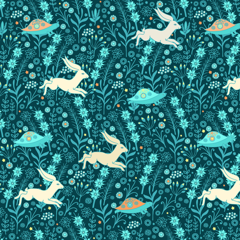Turtle & hare fabric by dariara on Spoonflower - custom fabric