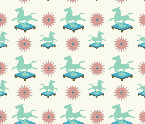 Trophy Horse fabric by katie_hayes on Spoonflower - custom fabric