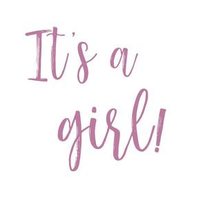 It's a girl! - fat quarter