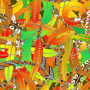 Gum Leaves Coloured