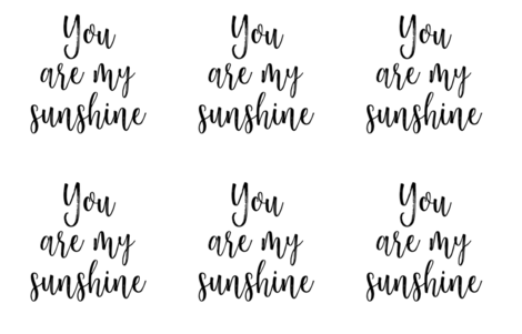 You are my sunshine - fat quarter fabric by southerntopstitch on Spoonflower - custom fabric