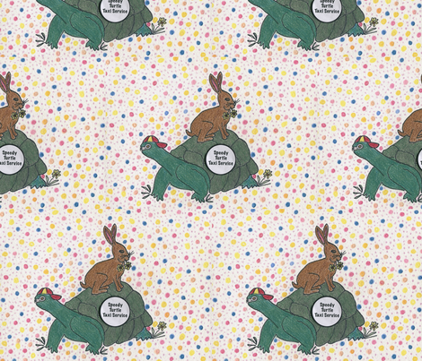 Turtle Taxi Service fabric by dizzybeedesigns on Spoonflower - custom fabric
