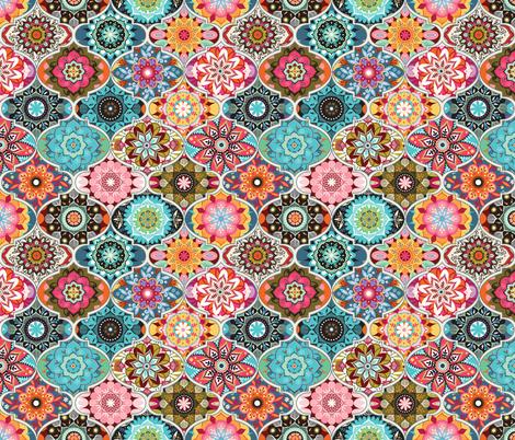 Bohemian summer | small fabric by camcreative on Spoonflower - custom fabric