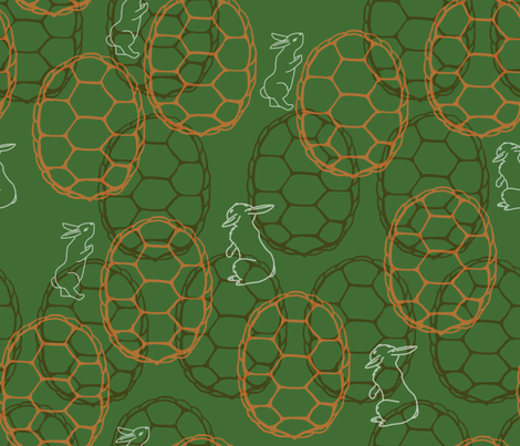 tortoise and hare maze fabric by charcoalram on Spoonflower - custom fabric