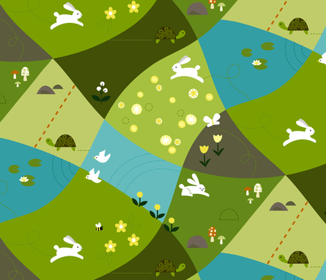 Hill and Dale fabric by lellobird on Spoonflower - custom fabric