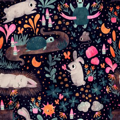 A bunny and a turtle - Sandra Bowers