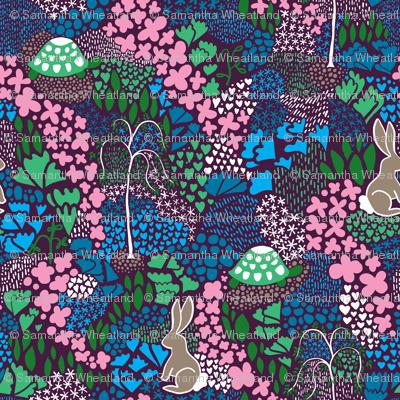 Aesop's Garden Purple Background